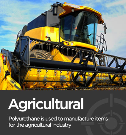 Picture of a agricultural harvester associated with polyurethane manufacturer