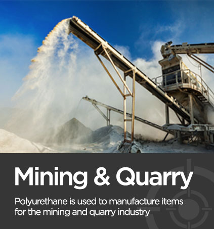 Picture of a mining quarry associated with polyurethane manufacturer