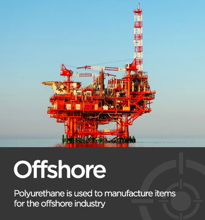 Picture of an offshore rig associated with polyurethane manufacturer