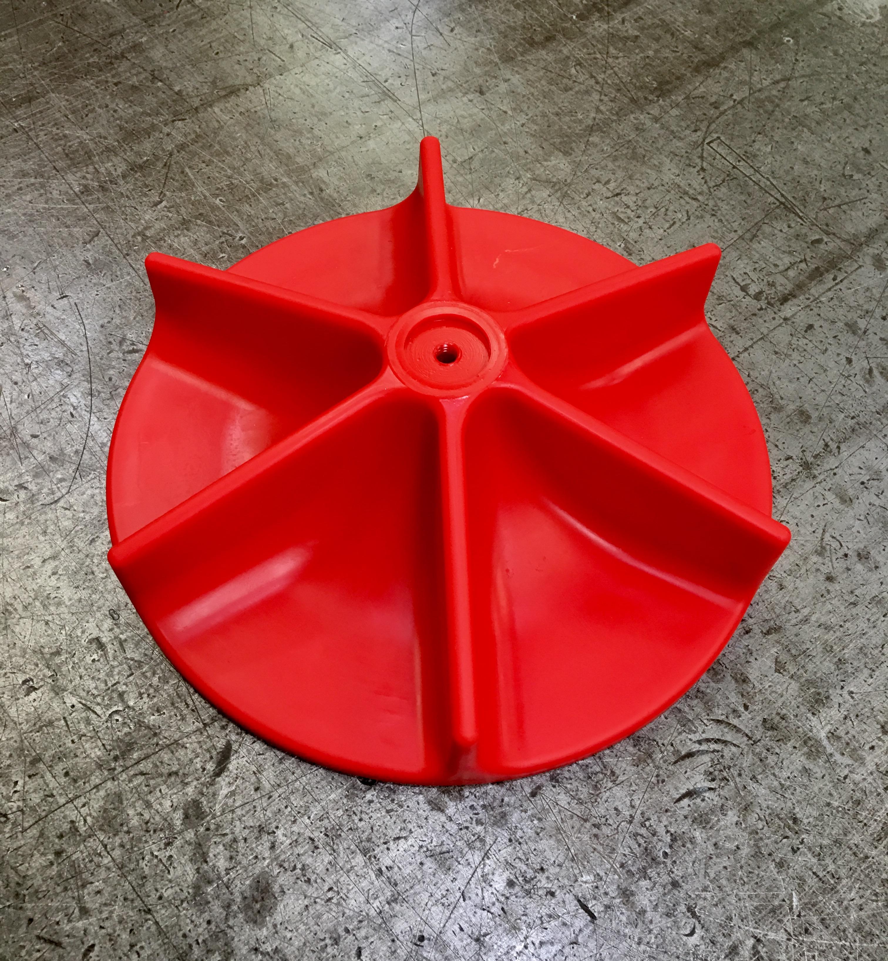 CNC cut polyurethane impeller