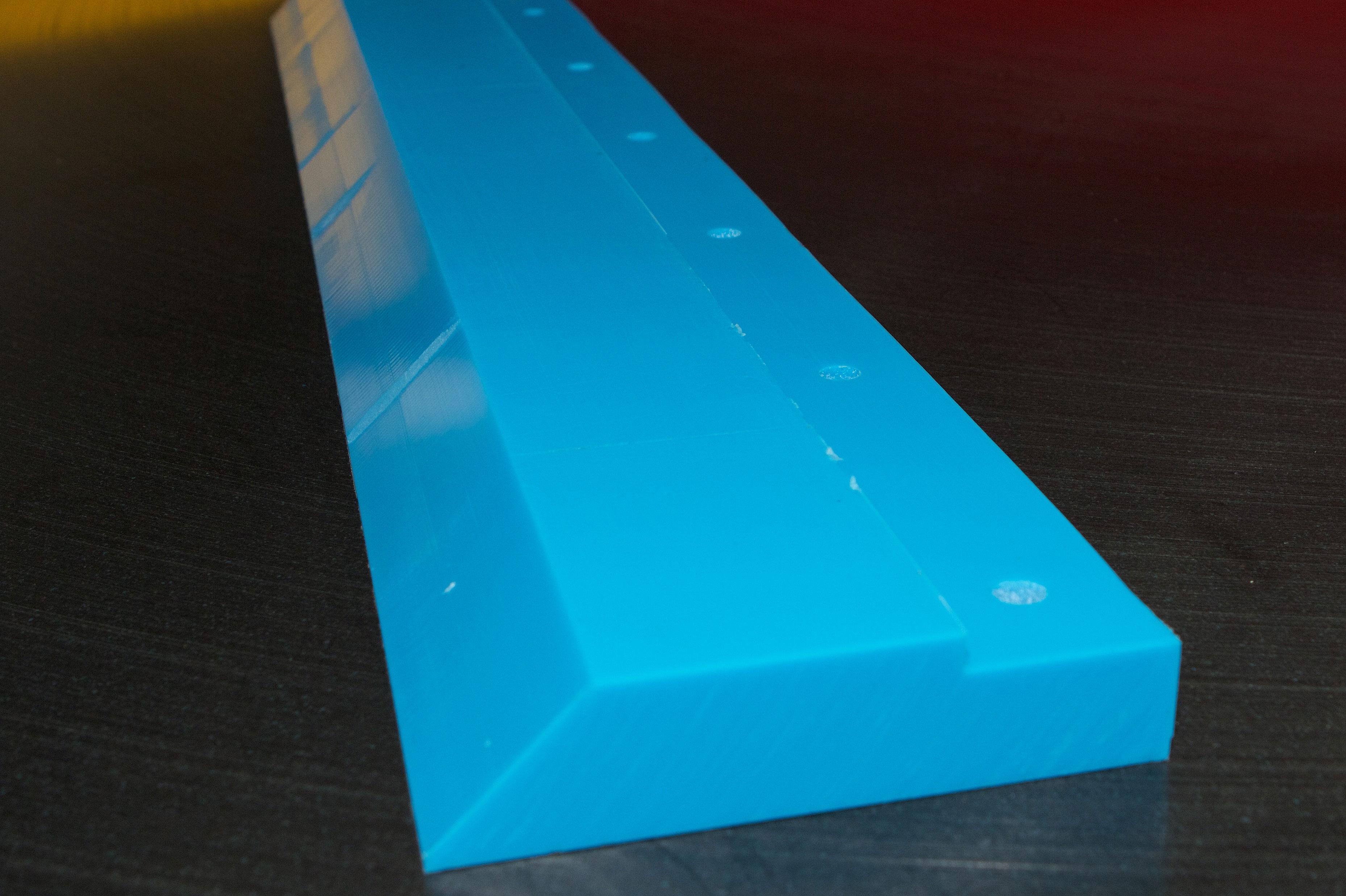 Large polyurethane scraper blades